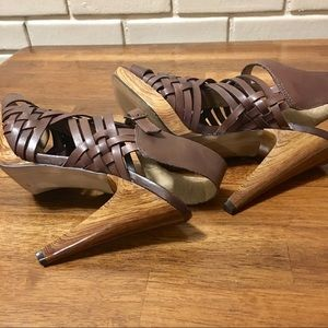 "Jessica Simpson ""Delano""Brown Strappy Heels 7.5"